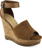 Marc Fisher Hillory Two-Piece Platform Wedge Sandals