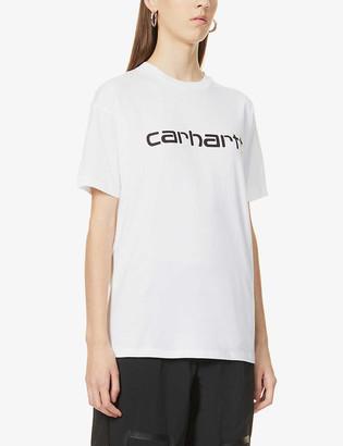 Carhartt Work In Progress Logo-print cotton-jersey T-shirt