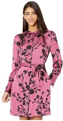 Equipment Short Roseabelle Dress (Red Violet/Chocolate Plum) Women's Clothing