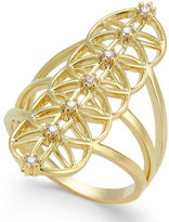 INC International Concepts Gold-Tone Crystal Ring, Only at Macy's