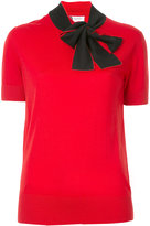 Lanvin tie-neck knitted top