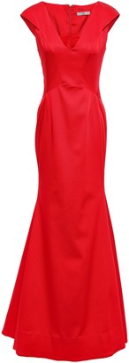 Zac Posen Fluted Faille Gown