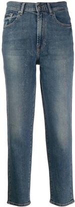 7 For All Mankind Glitter Straight Jeans