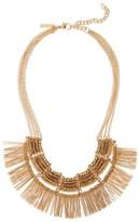 Topshop Women's Beaded Fringe Collar Necklace