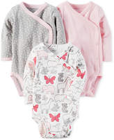 Carter's 3-Pk. Cotton Side-Snap Bodysuits, Baby Girls