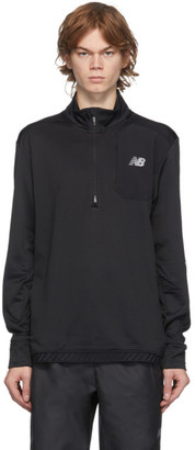 New Balance Black Heat Grid Half-Zip Sweater