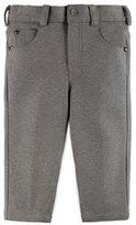 Pili Carrera Melange Straight-Leg Scuba Pants, Gray, Size 12M-4