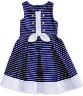 Sweet Heart Rose Striped Sailor Dress, Little Girls (4-6X)