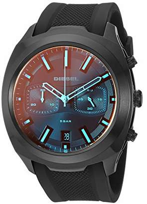 Diesel Men's Tumbler Stainless Steel Analog-Quartz Watch with Silicone Strap