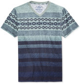 American Rag Men's Southwest Ombré Stripe V-Neck T-Shirt, Only at Macy's