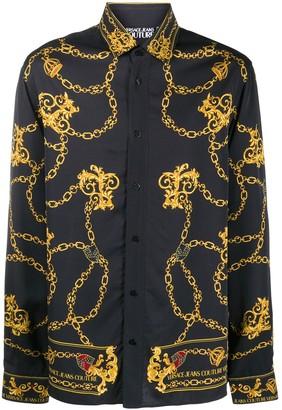 Versace Jeans Couture Chain & Baroque logo print shirt