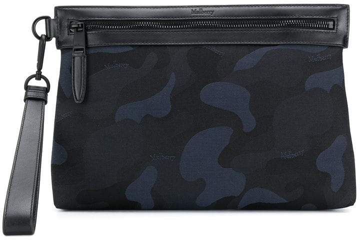 Mulberry camouflage print clutch