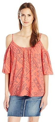 Plenty by Tracy Reese Women's Cold Shoulder Peasant Xs-L