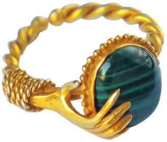 Softdream By Lauragalasso Hand Ring With Malachite Stone