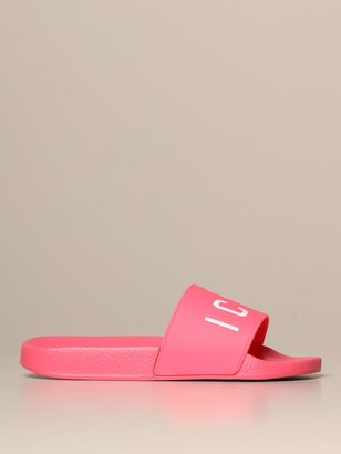 DSQUARED2 Flat Sandals Rubber Sandal With Icon Print