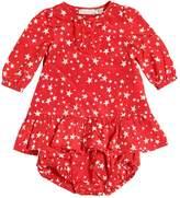 Stella McCartney Silk & Cotton Satin Dress & Diaper Cover