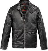 Hawke & Co Boys' Faux-Leather Biker Jacket