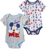 "Disney Disney's Mickey Mouse Baby Boy 2-pk. ""It Wasn't Me"" Graphic & Print Bodysuits"