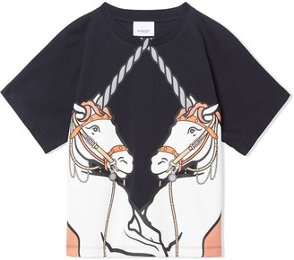 BURBERRY KIDS unicorn print T-shirt