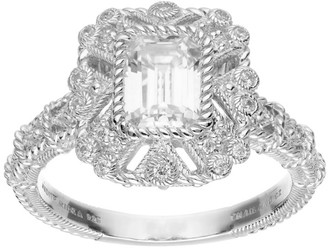 Judith Ripka Sterling Silver 1.30 cttw Diamonique Ring