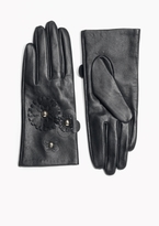 Flower Leather Gloves