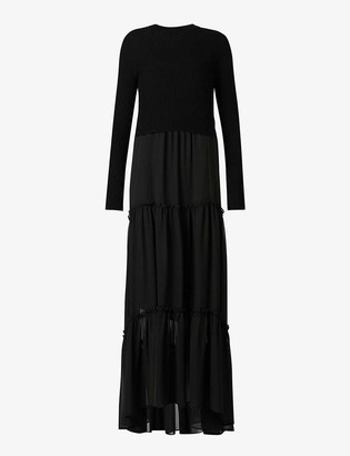 AllSaints Tilly Valentine woven maxi dress