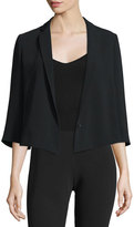 Elizabeth and James Claudine 3/4-Sleeve Short Jacket, Black