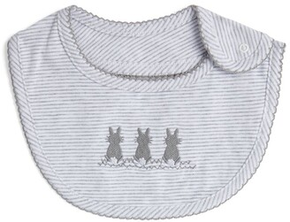 Trotters Embroidered Little Bunny Bib