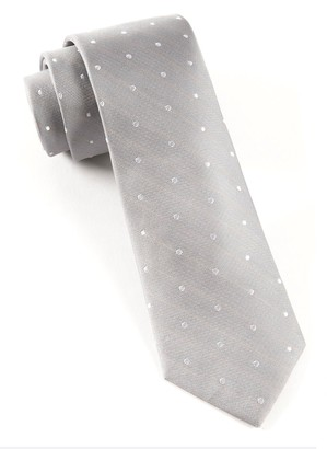 Tie Bar Ringside Dots Silver Tie