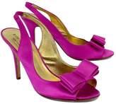 Kate Spade Fuchsia Satin Bow Slingback Heels