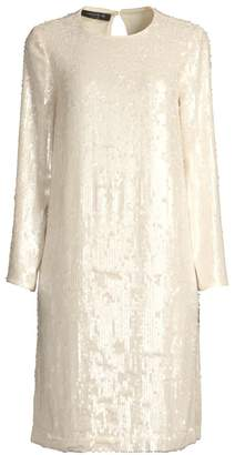 Lafayette 148 New York Bonnie Iridescent Sequin Shift Dress