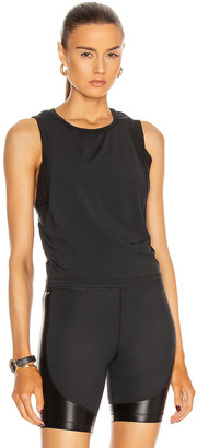 ALALA Mesh Tie Back Tank in Black | FWRD