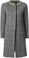Ermanno Scervino check single breasted coat