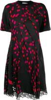 Koché twisting dotted T-shirt dress