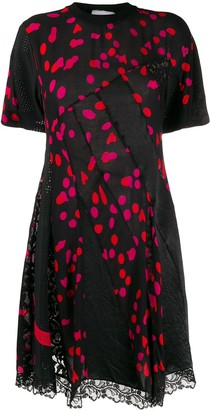 Koché twisting dotted T-shirt dress