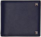 Valentino Navy Big Rockstud Wallet