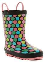 Western Chief Glitter Heart Reflective Waterproof Rain Boot (Toddler & Little Girls)