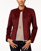 American Rag Zipper-Front Faux-Suede Jacket, Only at Macy's