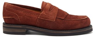 Our Legacy Stacked-sole Suede Penny Loafers - Brown