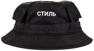 Heron Preston CTNMB Bucket Hat in Black & White | FWRD