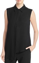 DKNY Side Overlay Sleeveless Blouse