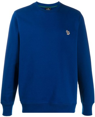Paul Smith Zebra-Embroidered Organic Cotton Sweatshirt