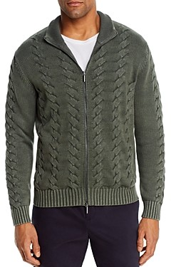 Bloomingdale's The Men's Store at Cotton Classic Fit Full-Zip Cable Sweater - 100% Exclusive