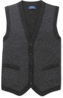 Polo Ralph Lauren Herringbone Lambswool Sweater Vest