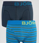 Bjorn Borg 2 Pack Trunks in Stripe