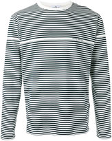 Stone Island striped logo print long sleeve top