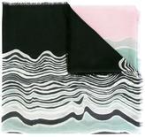 Diane von Furstenberg 'Wave Band' pattern scarf - women - Cashmere - One Size