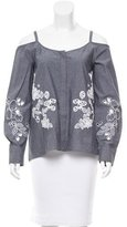 Suno Embroidered Off-The-Shoulder Top w/ Tags
