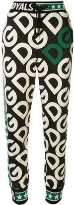 Dolce & Gabbana Logo-Print Stripe-Detail Track Pants