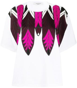 Valentino feather print cotton T-shirt